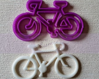 Custom cookie cutter for Bicycle 5 inch