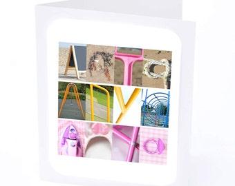 Anya Personalised Birthday Card