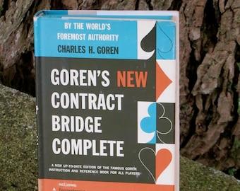 Vintage Book, Goren's New Contract Bridge Complete, by Charles H. Goren, Doubleday & Company, Hardcover 1957