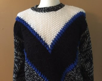 1980's Hand knitted sweater