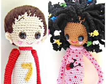 2- Crochet Pattern Special Deal, Buy the Crochet Doll Desireè Pattern and the Crochet Doll Dani Pattern for Euro 10.00, Amigurumi Pattern