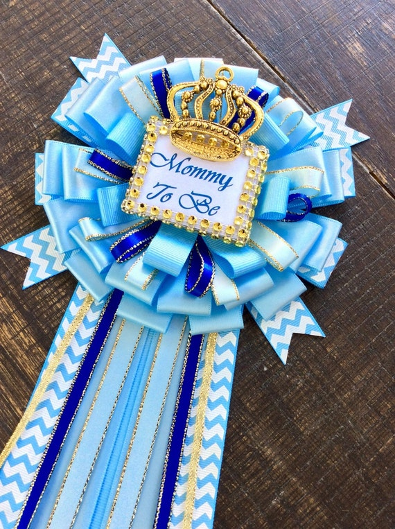 royal blue baby shower baby blue royal prince mommy pin mommy to be