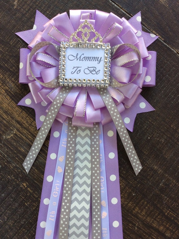 little princess baby shower mommy to be pin little princess corsage