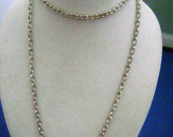 """Nautical French Silver chain 30"""""""
