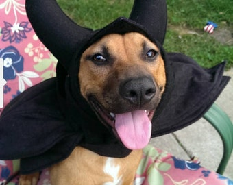Maleficent Dog Cape and Horns Dog Costume