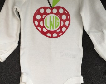 Apple Monogram Onesie