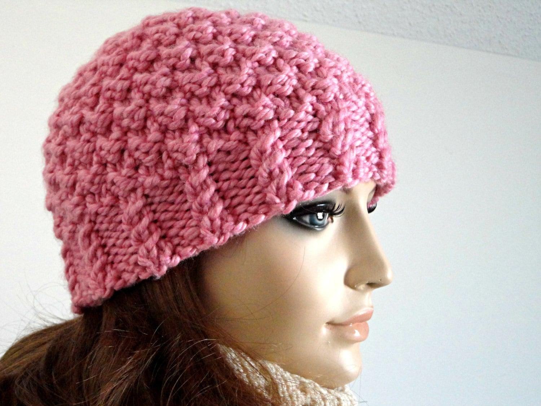 Women s Beanie Knitting Pattern : Knitting Pattern Hat Knit Beanie Pattern Women Hat Pattern ...