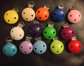SALE! 10pc mixed wooden paci clips