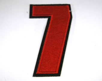 """Iron-on """"number 7"""", applique, application"""