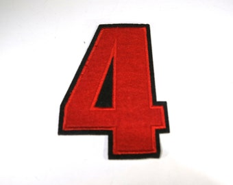 """Iron-on """"number 4"""", applique, application"""