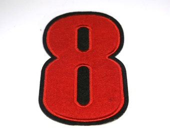 """Iron-on """"number 8"""", applique, application"""