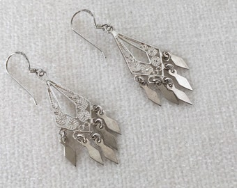 Sale Vintage Sterling Chandelier Earrings