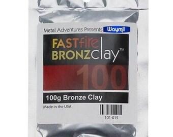Fastfire Bronzclay 100g Metal Clay Jewelry Art Sculpting Creating Metal Pieces WA 101-015