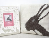 Hare Crochet Cushion Kit - Complete Craft Kit