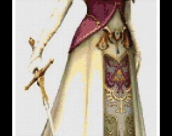 Zelda Princess - The Legend of Zelda - cross stitch pattern - PDF pattern - instant download!