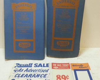 Free Shipping!! Vintage Rexall Drugs Universal Price Marking System RARE!!!!!