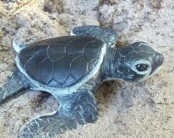 Baby Sea Turtle Sculpture lifesized