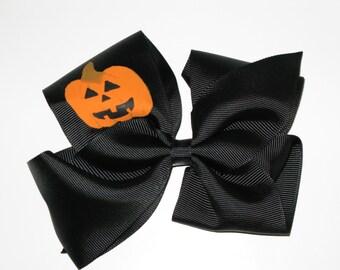 Halloween Jack O' Lantern Hair Bow