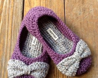Crochet Slippers Non-Skid