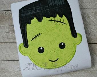 Frankie Monster Applique Embroidery Design