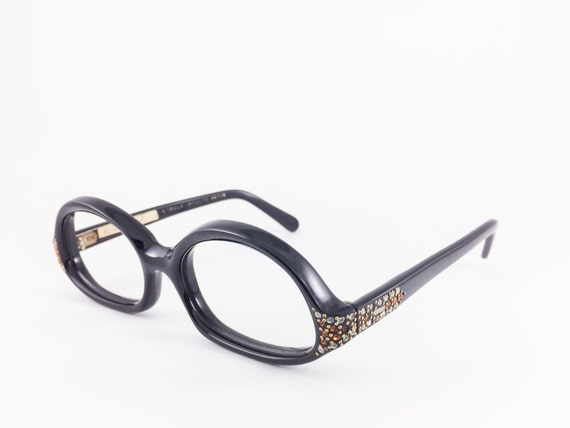Vintage 1950s Cute Black Rounded Swank Eyeglass by ...
