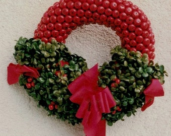 Rustic Red Berry Wreath