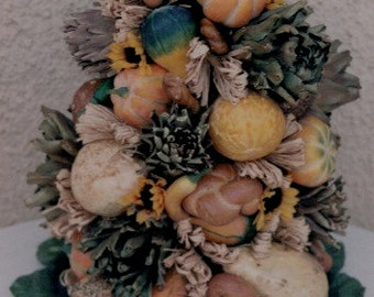 Harvest Rustic Tower Table Decoration