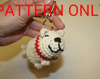 Pattern for Doggy Botty Buddy - poop bag dispenser that clips on your dog lead. (UK and US crochet terms)