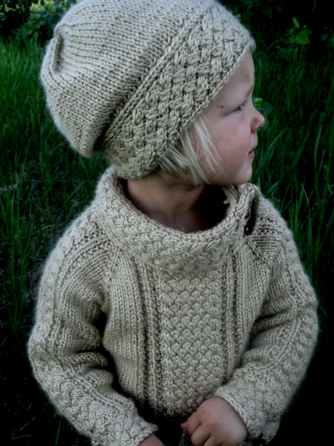 Knitting Patterns Sweater : Knitting pattern pdf sweater knit baby
