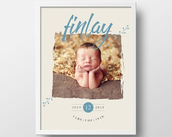 Personalized Photo Gift | Custom Photo Gift | Gift for Mom | Birth Announcement | Unique Photo Gift | Gift for Dad | Holiday Gift