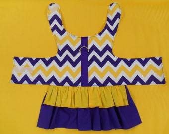 LSU Dog Dress Purple and Gold Chevron