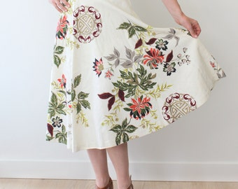 Floral Skirt with Asian influence