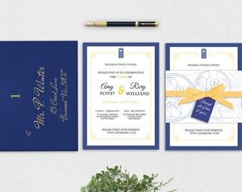 Whovian Wedding Invitation Suite Printable - Instant Download