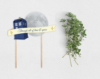 Whovian Cake Topper Printable Instant Download