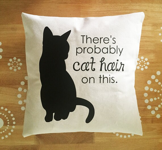 Funny Throw Pillow Covers : Cat Pillow Cover Throw Pillow Cover Cat Hair Pillow Cover