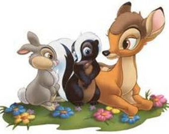 Iron on ONLY Bambi and Friends