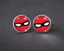 The Incredibles logo cuff links. Vintage Design. Custom Film Cufflinks Wedding Groomsmen accessory, Cool gift for boyfriend, Gift Idea