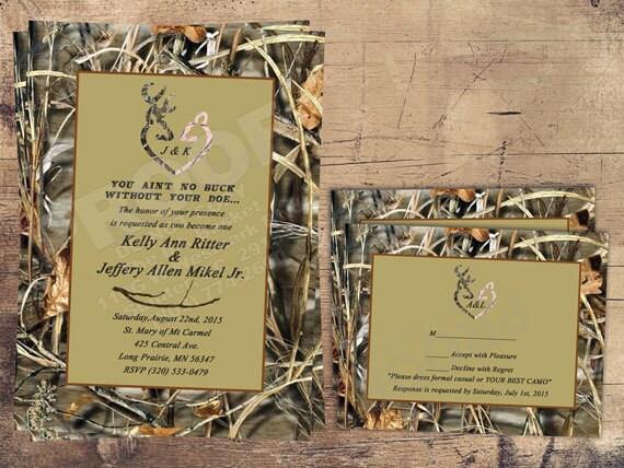Free Printable Camo Wedding Invitations Home Design Gamehayus - Camo wedding invitations templates