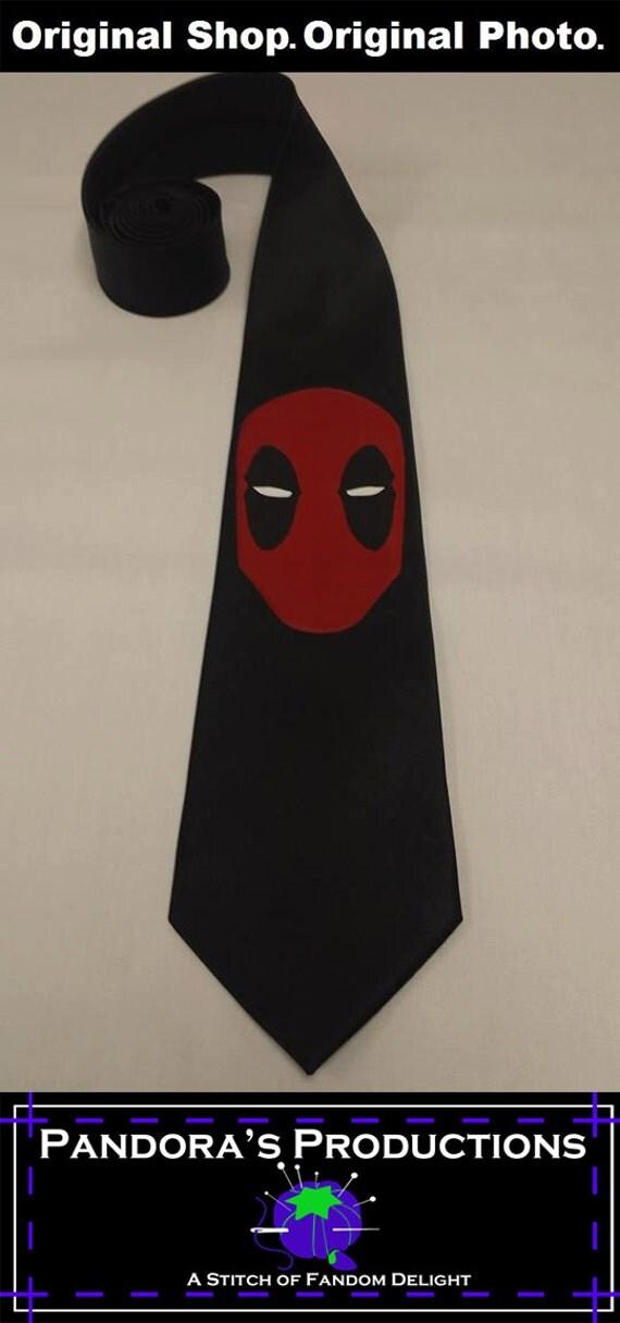 deadpool mens neck tie