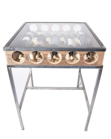 Wine rack bar height table
