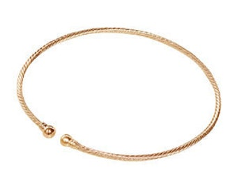 Gold Plated Spiral Choker Neckwire