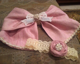 Large bow and matching headband