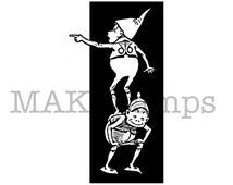 Two happy Brownies stamp / Unmounted rubber stamp (150519)