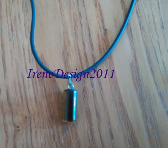 Handmade Leather Necklace with Tigers Eye by IreneDesign2011