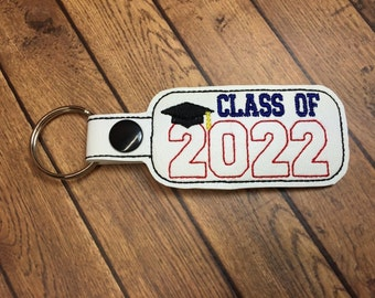 Class of 2022 - Graduation SNAP Key Fob In The Hoop - DIGITAL Embroidery DESIGN