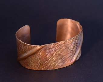 Folded Copper Bracelet