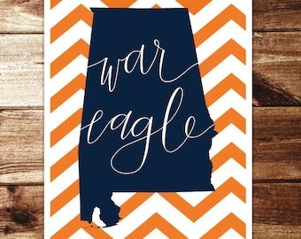 Auburn: War Eagle Print