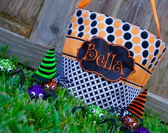 Trick or Treat Bag, Halloween Bag, Personalized Tote
