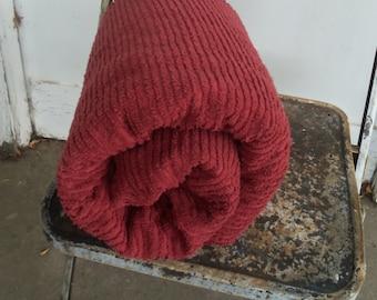 """Adobe Red Cotton Chenille Fabric - 102"""" x 74"""""""