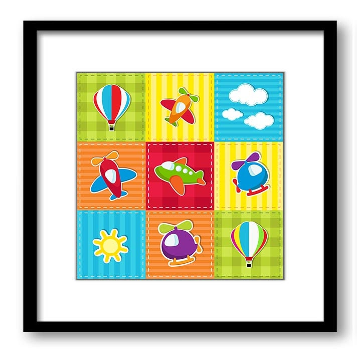 Transportation Nursery Art Nursery Print Child Baby Boys Kids Room Wall Decor Hot Air Balloon Airpla